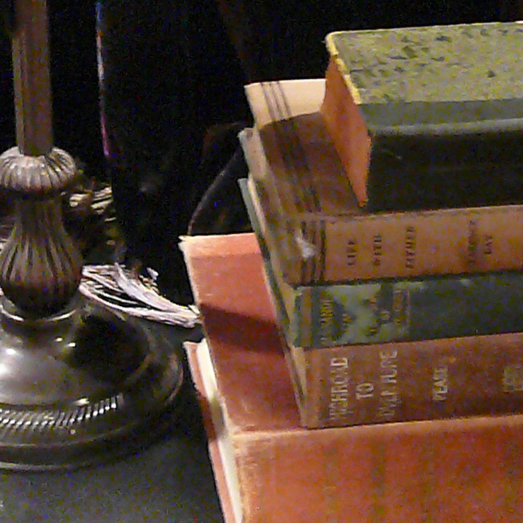 P1160665 closeup lamp & books